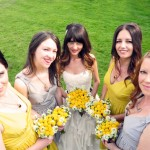 Kerry Jim Hjelm Real Bride with Bridesmaids