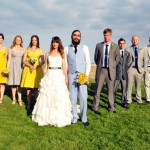 Kerry Real Bride Grey and Yellow Wedding