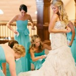 Lazaro Bride style 3167 and Bridesmaids