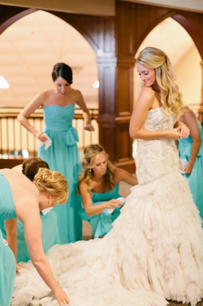 Lazaro Bride style 3167 and Bridesmaids