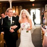 Real Bride Frances Jim Hjelm Bridal style 8156