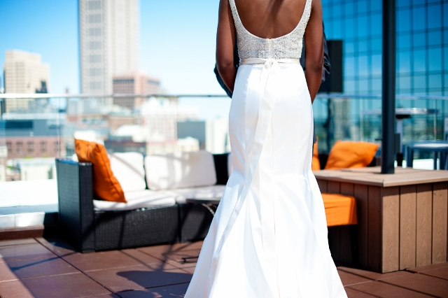 Lazaro Real Bride Fatimah Back of Style 3052