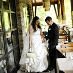 Real Bride Christine in Jim Hjelm Style 8057