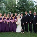 Bridal party on the green with beanpot