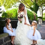 Real Bride Elyse and Flower Girls