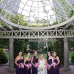 bridesmaids under the skylight