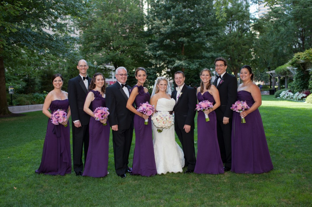 staggered bridal party