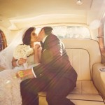 Alvina Real Bride Limo Kiss