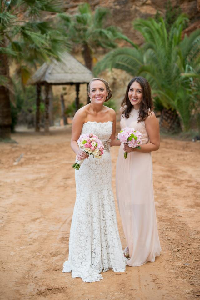 Real Bride Rachel and Maid of Honor