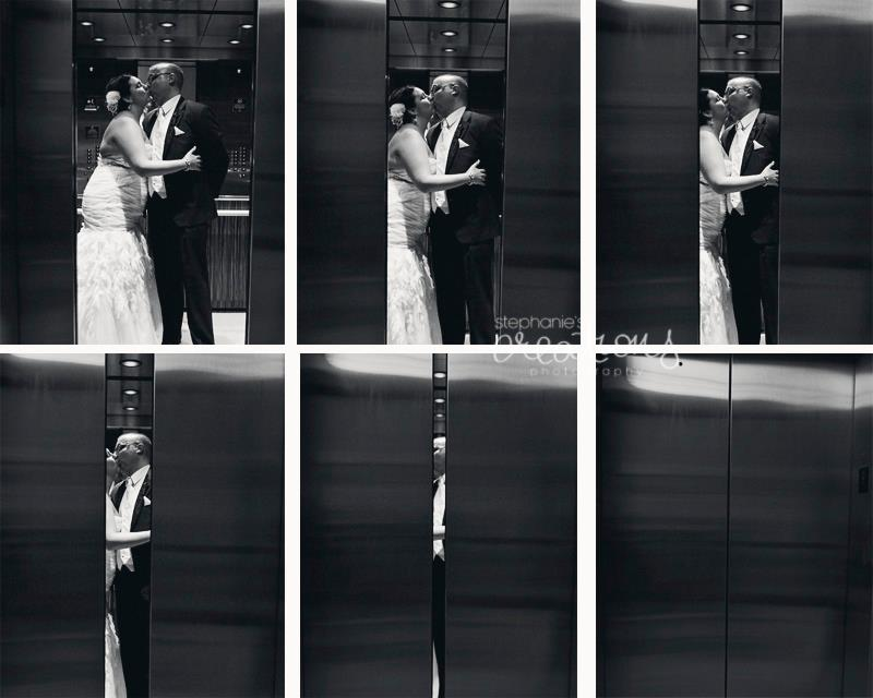 Eric and Beth Real Bride wedding elevator