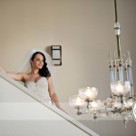 Lazaro Real Bride on Steps