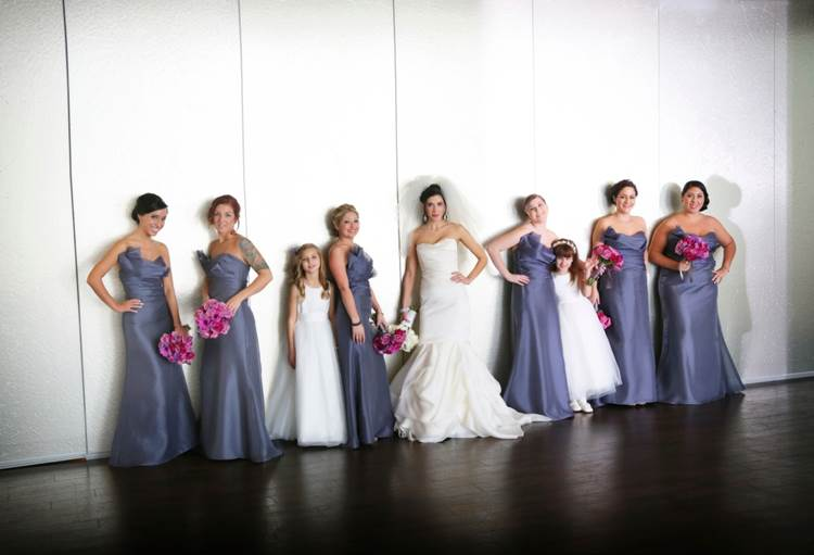 Real Bride Jordan and Real Alvina Valenta Bridesmaids