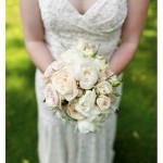 Kaitiln's lovely bouquet and beautiful bridal gown