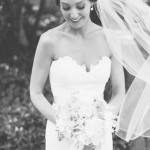 Black and white bridal beauty