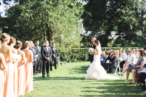 Molly makes her way down the aisle